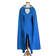 Déguisements Game of Thrones Mère des Dragons Femme Robes Costume de Cosplay Manteau Cosplay de Film Bleu Les costumes