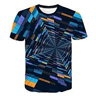 Pánské - Geometrický / Barevné bloky / 3D Tričko, Tisk Duhová XXXXL