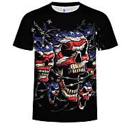 Bărbați Rotund - Mărime EU / US Tricou De Bază - #D Imprimeu Negru XXXXL / Manșon scurt