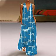 Dame Basale Skede Kjole - Geometrisk Maxi
