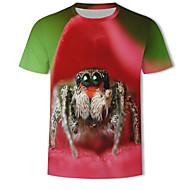 Tee-shirt Homme, 3D / Animal Imprimé Rouge XXXXL
