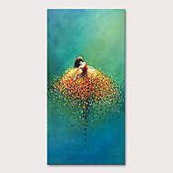 Peinture à l'huile Hang-peint Peint à la main - Personnage Pop Art Moderne Inclure cadre intérieur