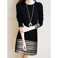 Damskie Elegancja Pochwa Sukienka - Geometric Shape, Koronka Nad kolano