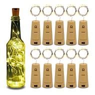 olcso -10db 15-vezetékes 0,75 m-es rézhuzal-palack dugóhúzó lámpák az üveg kézműves üveg tündér Valentin esküvői dekoráció party számára