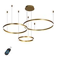 le lustre mené de cercle de 90w / a mené les lumières pendantes modernes pour la salle d'exposition de café-bar de salon / grande taille / blanc chaud / blanc / dimmable avec à télécommande / wifi