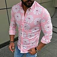 povoljno -Majica Muškarci - Osnovni / Ulični šik Dnevno Cvjetni print Kolaž / Print Blushing Pink