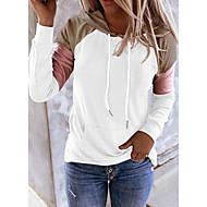 Women's Color Block Pullover Hoodie Sweatshirt Daily Weekend Casual Cute Hoodies Sweatshirts  Blue Blushing Pink Khaki