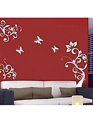 povoljno -Cvjetnih Fantazija Zid Naljepnice Zidne naljepnice Dekorativne zidne naljepnice, Vinil Početna Dekoracija Zid preslikača Zid
