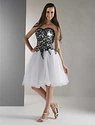 Ball Gown Strapless Sweetheart Knee Length Lace Holiday Dress with Beading by TS Couture®