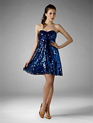 A-Line Princess Strapless Sweetheart Short / Mini Sequined Cocktail Party Dress with Sequins by TS Couture®