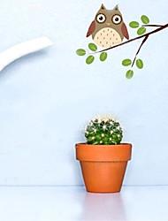 billige -Dyr Botanisk Veggklistremerker Fly vægklistermærker Dekorative Mur Klistermærker, Vinyl Hjem Dekor Veggoverføringsbilde Vegg