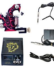 1 macchina tatuaggio fatto a mano e combo di alimentazione Power LCD