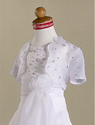 cheap -Short Sleeve Organza Wedding Party With Beading