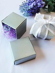 Cuboid Pearl Paper Favor Holder With Favor Boxes-24 Wedding Favors
