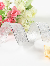 cheap -Solid Color Metalic Wedding Ribbons Piece/Set Metallica Ribbon Decorate favor holder Decorate gift box