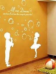levne -Romantika Samolepky na zeď Samolepky na stěnu Ozdobné samolepky na zeď, Vinyl Home dekorace Lepicí obraz na stěnu Stěna