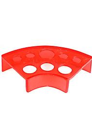 baratos -fan forma de plástico vermelho porta-copos de tinta