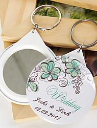 Plastique Porte-clés Favors-12 Piece / Set Porte-clés Thème de jardin Personnalisé Blanc / Vert