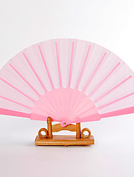 Недорогие -Шелк Вентиляторы и зонтики-# Пьеса / Установить Веера Сад Классика Розовый 42 см x 23 см x 1 см 2,4 см x 23 см x 1 см