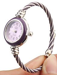 Mujer Reloj Casual Cuarzo Banda Brazalete Múltiples Colores Blanco
