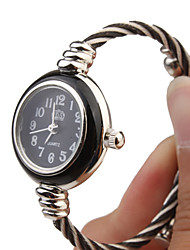 Quartz Watch with Metal Rope Watch Strap - Black Face Cool Watches Unique Watches