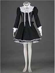 cheap -Princess Gothic Lolita Dress Punk Women's Dress Cosplay Long Sleeve Medium Length Halloween Costumes