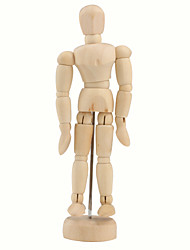 "cheap -Wooden 14-Joint Moveable Manikin Model with Display Base (5.5"")"