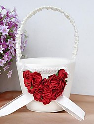 economico -cesto di fiori con il cuore rosa fiore ragazza cesto