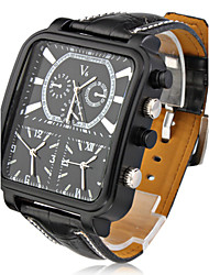 cheap -V6® Argus Panoptes - Men's Watch Military Triple-Movement Square Dial Leather Strap Cool Watch Unique Watch Fashion Watch