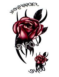 Недорогие -Временные тату Тату с цветами С рисунком Waterproof Женский Girl Подростки Вспышка татуировки Временные татуировки