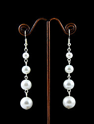 Imitation Pearls With Alloy Plating Bridal Earrings Elegant Style