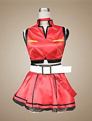 Inspiriert von Vocaloid Meiko Video Spiel Cosplay Kostüme Cosplay Kostüme / Kleider Patchwork Rot ÄrmellosMantel / Rock / Halsketten /