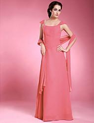 a-line spalla-spalla lunghezza madre chiffon del vestito sposa con bordare da aimite
