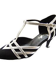 Scarpe da ballo - Non personalizzabile - Donna - Moderno / Sala da ballo - Stiletto - Eco-pelle / Velluto - Nero