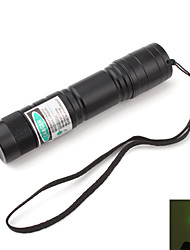 cheap -Potable Green Laser Pointer with Battery and Charger (5mw,532nm,Black, 1x16340)