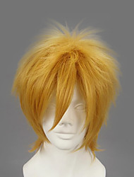 cheap -Cosplay Wigs Naruto Minato Namikaze Golden Short Anime Cosplay Wigs 32 CM Heat Resistant Fiber Male