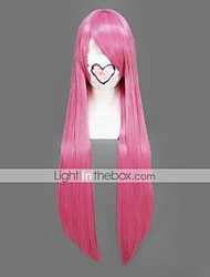 Parrucche Cosplay Naruto Tayoya Rosa Lungo Anime Parrucche Cosplay 80 CM Tessuno resistente a calore Donna