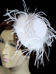 cheap -Crystal Feather Fabric Velvet Tiaras Hats 1 Wedding Special Occasion Party / Evening Headpiece