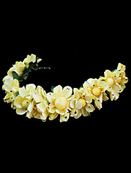 Femme Jeune bouquetière Papier Casque-Mariage Occasion spéciale Serre-tête Fleurs