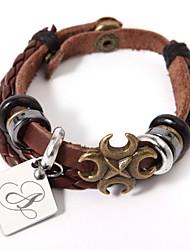 læder armbånd med personlig diamant charme elegant stil