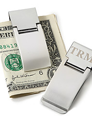 cheap -Groom Groomsman Stainless Steel Money Clips Wedding Anniversary Birthday