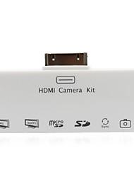 HDMI + AV + SD / TF kartica čitač kamere komplet za povezivanje USB čitač kartica za iPad 2 novi iPad (bijeli)
