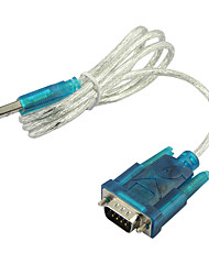 abordables -usb 2.0 a rs232 serie 9 pin db9 adaptador de cable pda& gps 0.8 m