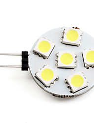 cheap -2W G4 LED Spotlight 6 SMD 5050 150lm Natural White 2700K DC 12V
