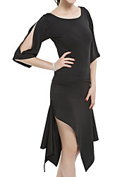cheap -Latin Dance Outfits Women's Training Polyester Half Sleeves Natural