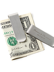 cheap -Couple Stainless Steel Money Clips Wedding Housewarming Wedding Gifts