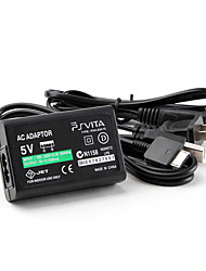 cheap -US AC Power Adapter for PS Vita with USB Cable Portable AC Power Adapte black (5V)