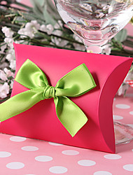 cheap -Pillow Card Paper Favor Holder with Ribbons Favor Boxes - 12