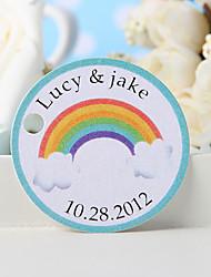 baratos -tag favor personalizado - arco-íris (conjunto de 36)
