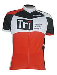 Kooplus Maglia da ciclismo Per uomo Manica corta Bicicletta Maglietta/Maglia Top Asciugatura rapida Zip anteriore Traspirante 100%